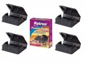 Mäuseköderset Ratron Pasten Power Pads 210g plus 4 x Mäuseköderboxen