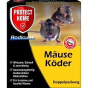 Rodicum Mäuseköder mit Köderbox Köderstationen Köderbox Mäuseköder Mäusegift 2er Packung