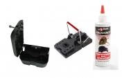 Rattenköderboxen Set R1 mit Schlagfalle und Lockstoff Rattengift